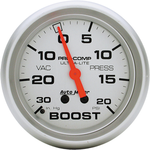 "AutoMeter Ultra-Lite 20 PSI, 2 5/8"" Boost/Vacuum Gauge"